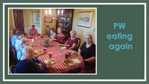 Presbyterian Women Knees under the Table